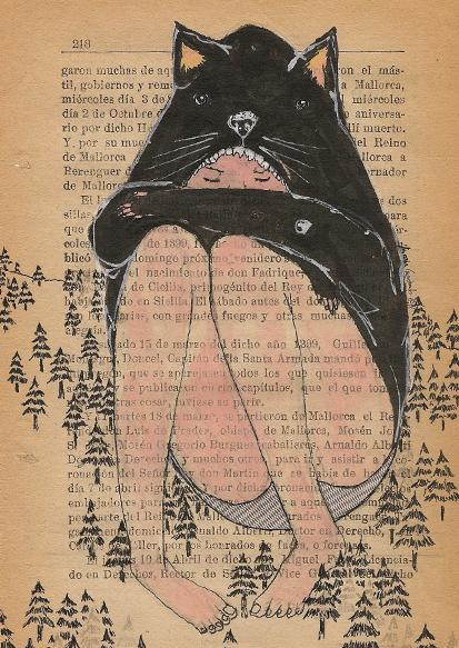 ilustración sobre papel antiguo