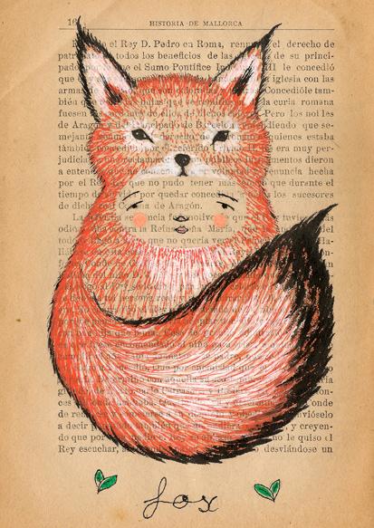 sobre papel amigos de invierno fox